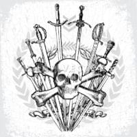 Vector Skull and Cross Bones with Swords