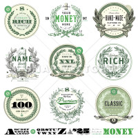 Vector Money Badge Set