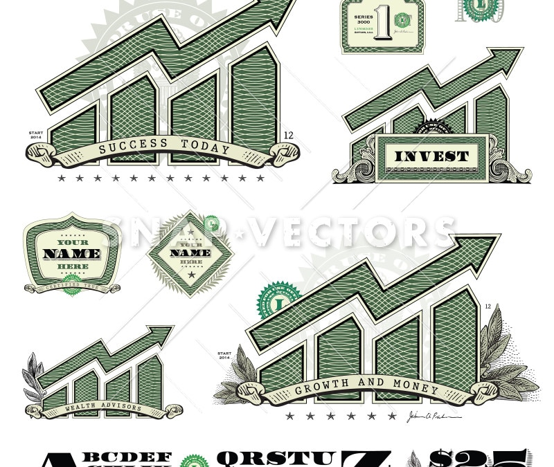 Vector Graph Money Infographic
