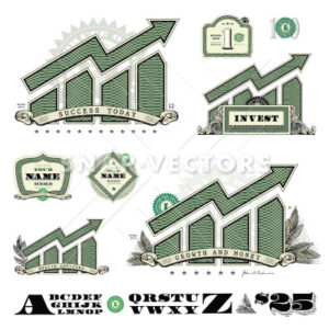 Vector Money Graph Infographic