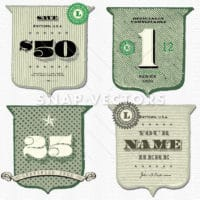 Vector Vintage Money Shield Set