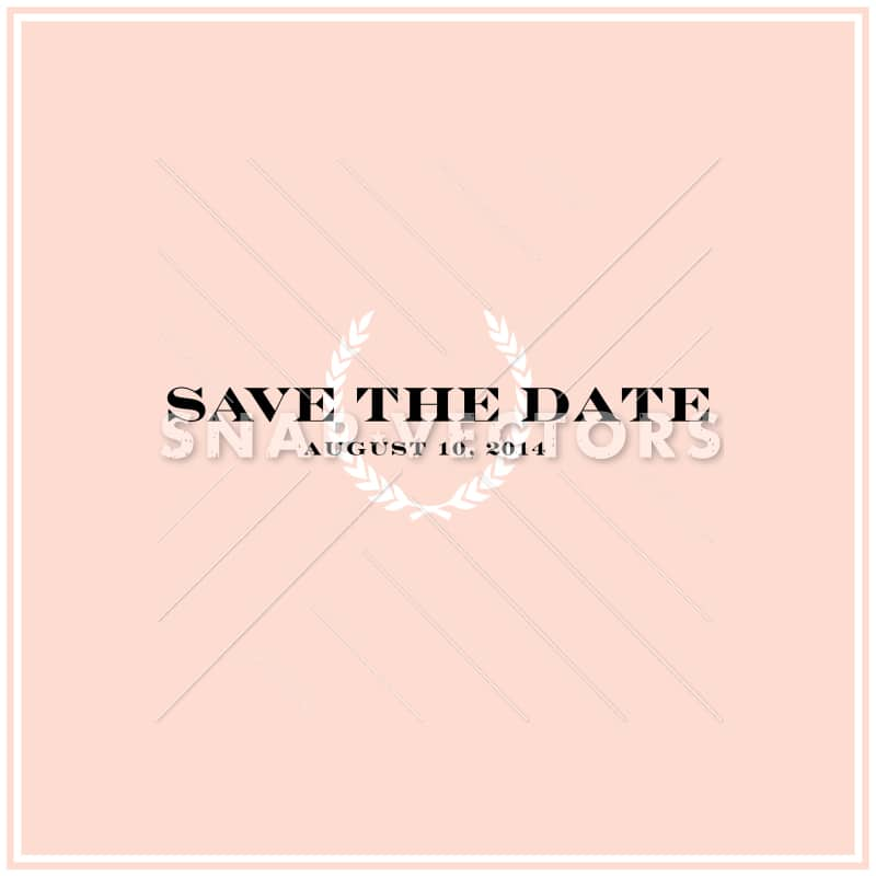 Vector Square Save the Date Invitation Template
