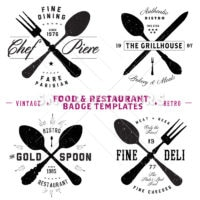 Vector Restaurant and Food Logo and Badge Templates