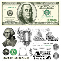 Vector dollar 100 Dollar Bill Template, money, dollar