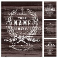 Vector Wood Print Template