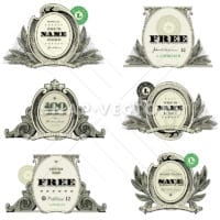 Vector Money Logo and Badge Set