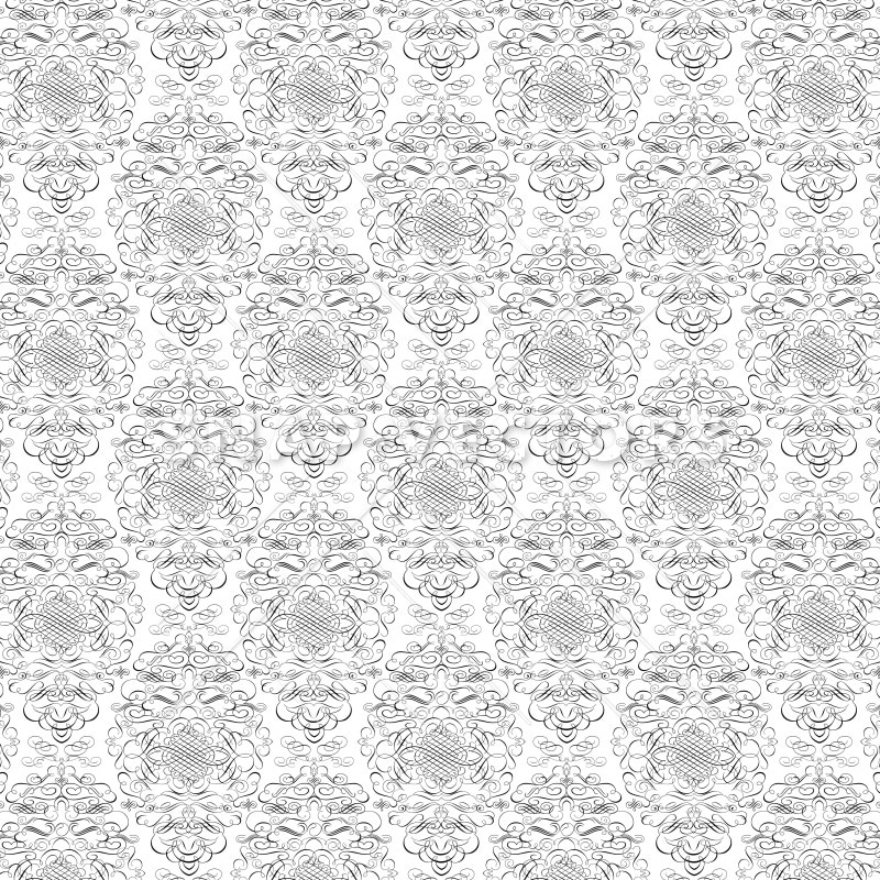 Vector Repeating Damask Pattern Background