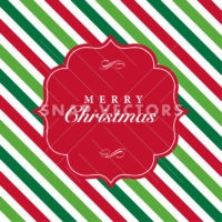 Vector Christmas Card Frame and Pattern