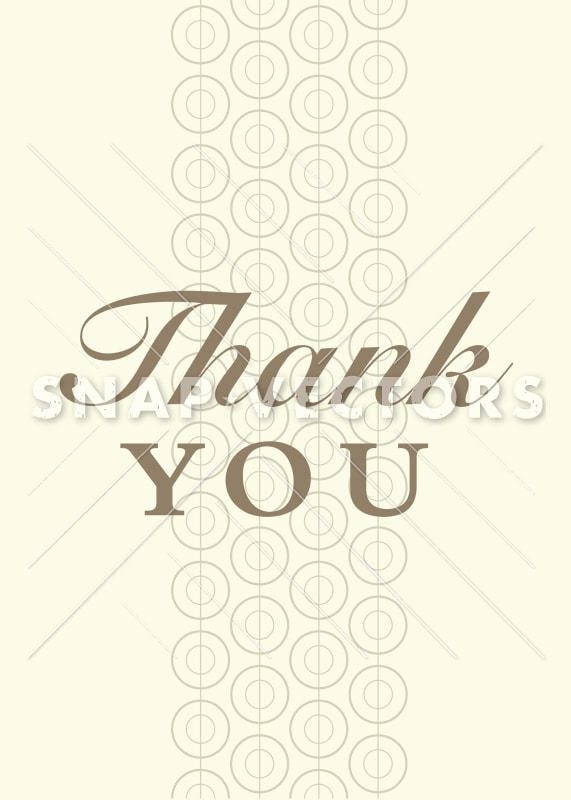 Vector Asian Thank You Card