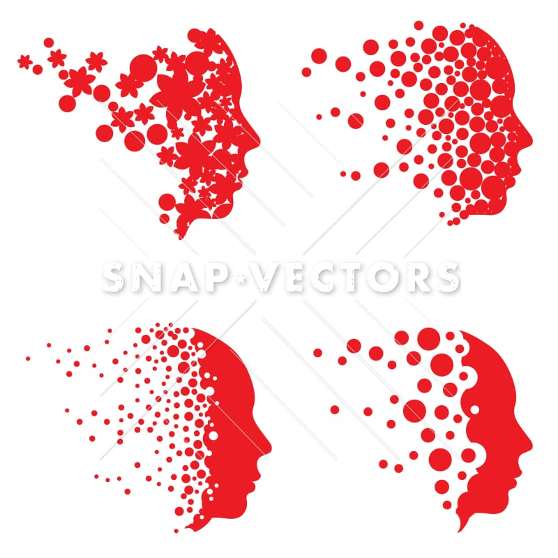 Vector Head Logo and Face Logo Set