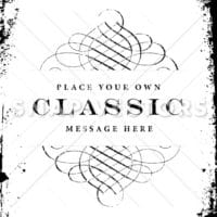 Vector Distressed Frame and Ornament Template