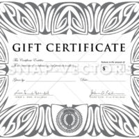 Vector Clipart Silver Gift Certificate Template