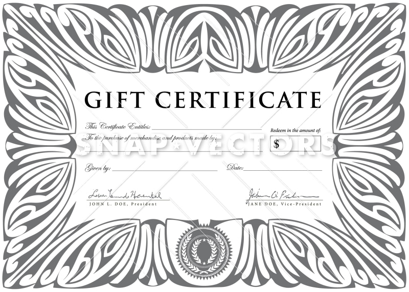 Vector clipart silver gift certificate template snap vectors vector clipart silver gift certificate template yadclub Gallery