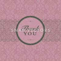 Vector Damask Pattern and Thank You Frame