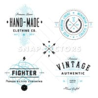 Vector Vintage Label and Badge Set