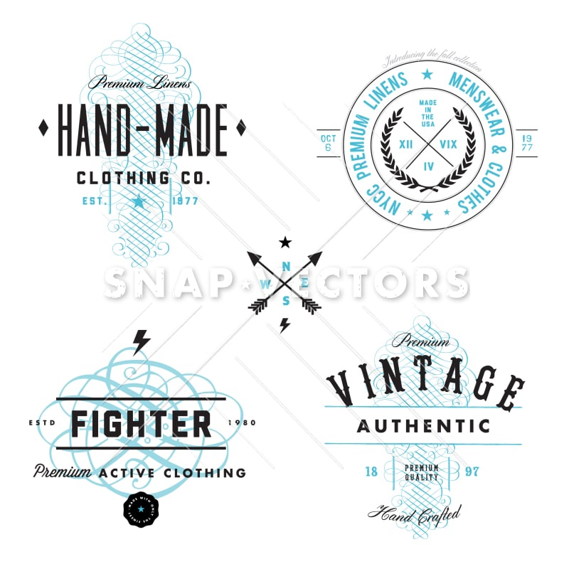 Vector Vintage Logo and Badge Set