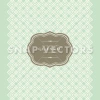 Vector Green Checkered Pattern and Frame