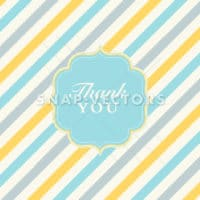 Vector Striped Pattern and Ornate Thank You Frame