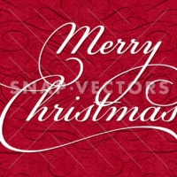Vector Christmas Background with Calligraphy Ornaments