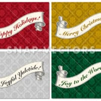 Vector Christmas Banners and Backgrounds