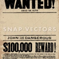 Vector Western Wanted Poster Template Snap Vectors