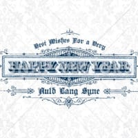 Vector Clipart Vintage New Years Invitation Frame