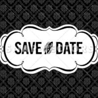 Vector Clipart Save the Date Frame and Pattern