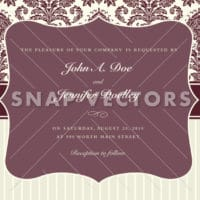 Vector Clipart Fancy Frame with Pattern and Stripes