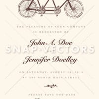Vector Clipart Retro Bicycle Frame