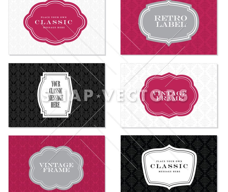 Vector Clipart Classic Label and Frame Set