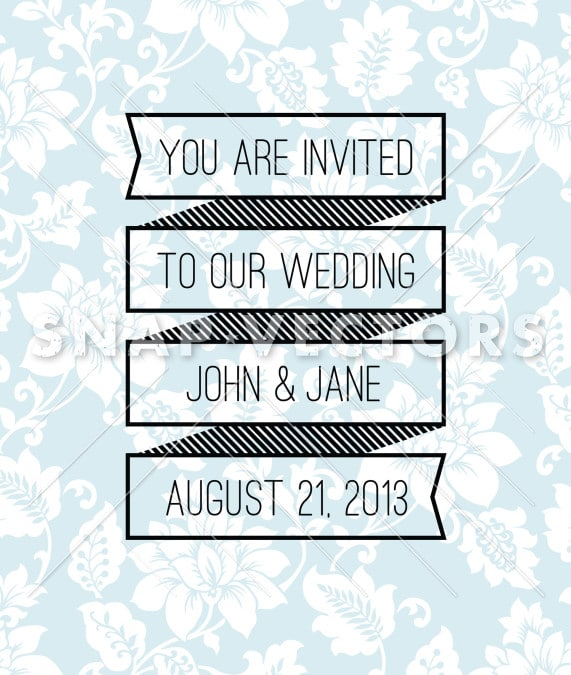 Vector Clipart Banner Wedding Frame and Background