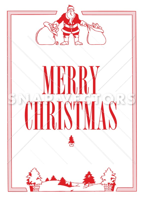 Vector Clipart Retro Santa and Christmas Graphics