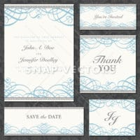 Vector Clipart Wedding Frame Set with Ornaments