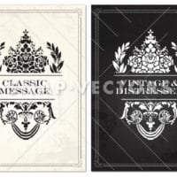Vector Vintage Flower Frame  and Border Set