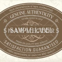 Clipart Oval Label on Distressed Background