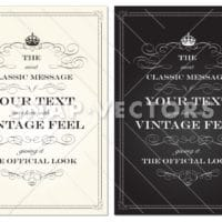 Vector Clipart Vintage Crown Frame Set