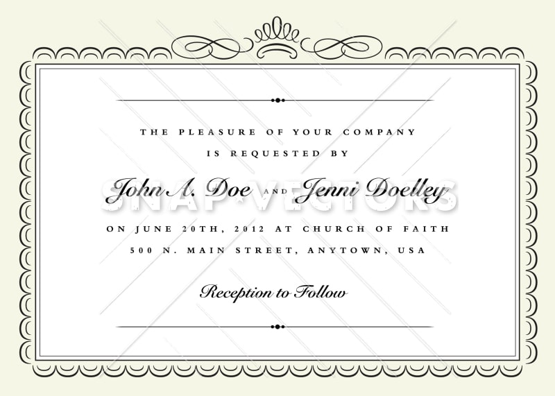 Vector Clipart Border for Fancy Invitation - Snap Vectors