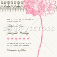Vector Woodcut Vintage Flower and Border