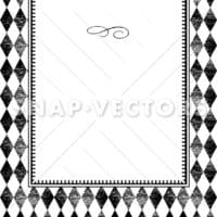Vector Distressed Plaid Pattern and Frame