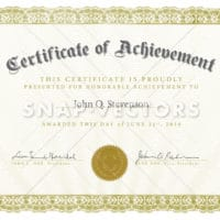 Vector Clipart Ornate Certificate of Achievement