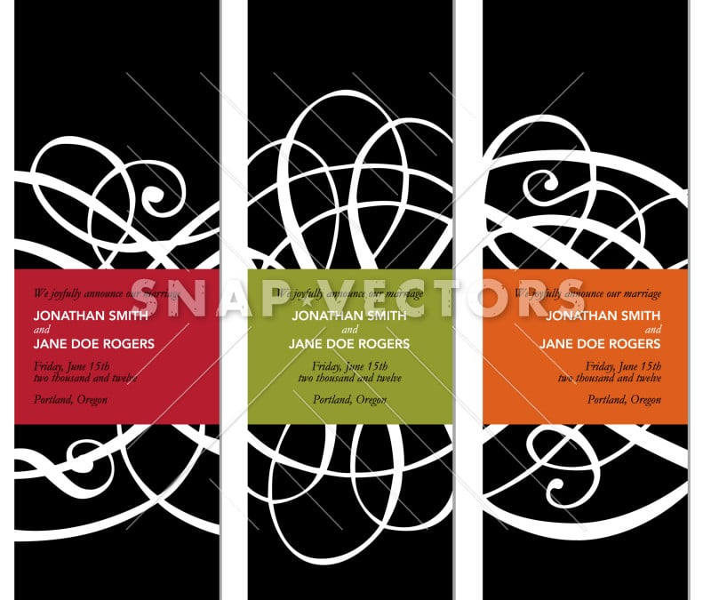 Vector Tall Black Frames with Ornaments