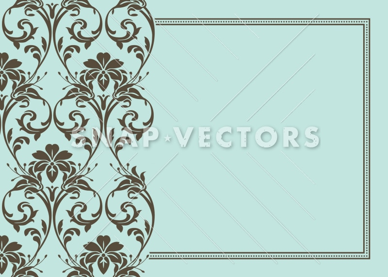 Vector Clipart of a Fancy Flower Half Frame