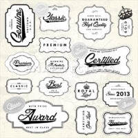 Vector Clipart Retro Badge and Frame Collection