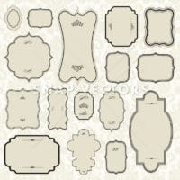 Vector Badge Frame and Ornament Set