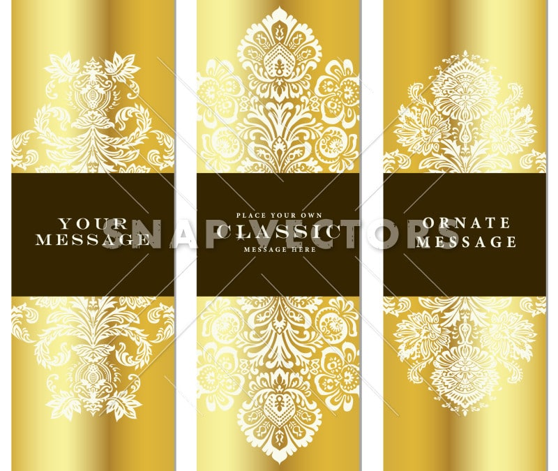 Vector Tall Gold Frame and Label Set