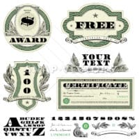 Vector Clipart Money and Currency Fonts