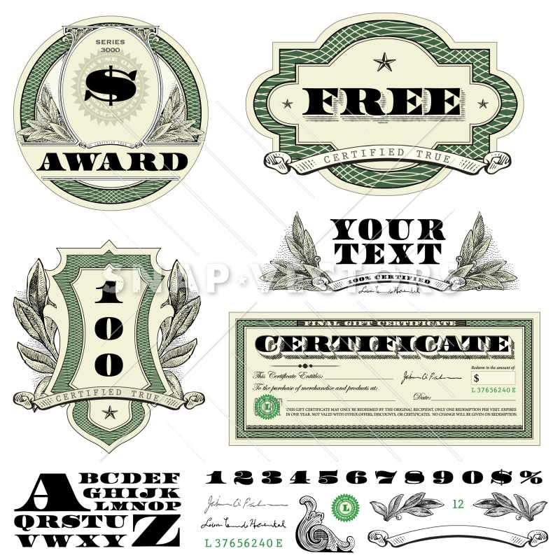 Vector Clipart Money And Currency Badges Snap Vectors