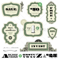 Vector Clipart Illustration of Currency Frames
