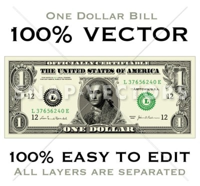 Vector Dollar and Money Clipart Sets