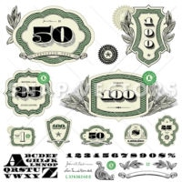 Vector Money Logo and Frame Set